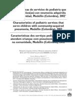 Características de Servicios de Pediatría Que Atienden Niños Con Neumonia Adquirida en La Comunidad Medelllin-colombia