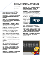 Microsoft Excel Definitions
