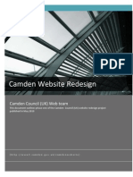 Camden Council Website Redesign Project - 1st Phase Overview (May 2010)
