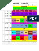 KG2 B Schedule