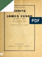 Écrits de James Ensor