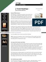 Torah Weekly Readings