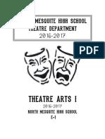 theatre i syllabus