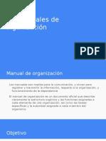 4.3 Manuales de Organización