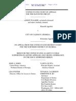Walker - Dept. Of Justice Amicus Curae Brief