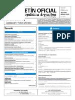 Boletín Oficial de la República Argentina, Número 33.443. 19 de agosto de 2016