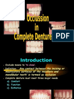 Occlussion in Complete Dentures Prostho