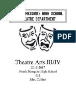 theatre arts iii-iv syllabus