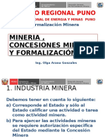 Mineria, y Formalizacion Minera -Drem Puno