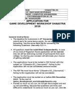 Game Dev Application