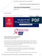 update 2015 breast cancer screening guidelines