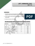 IIFT 2011-13 Admission Test_Q