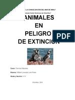 Animales en Proceso de Extincion
