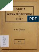 Historia de La Iglesia Presbiteriana en Chile