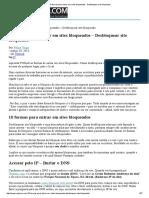 10 Formas Para Entrar Em Sites Bloqueados - Desbloquear Site Bloqueado
