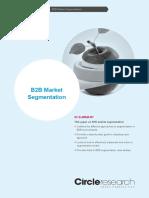 B2B Market Segmentation Research