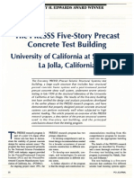 The PRESSS Five-Story Precast Concrete Test Building University of California at San Diego, La Jolla, California