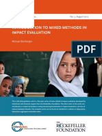 Mixed Methods in Impact Evaluation