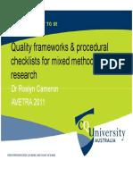 Quality Frameworks