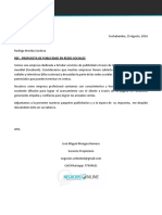 Carta Negocios Online Rodrigo Merida