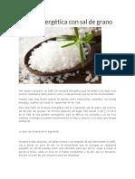 Limpia Energética Con Sal de Grano