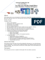 PGT001 in-line Filter Training