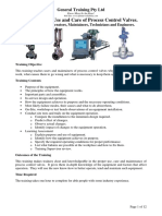 PGT005 Control Valves Training