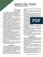 Reglamento del Túmin Julio 2016