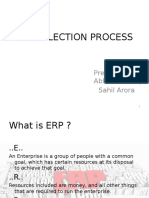 Erp Selection Process Sahil and Abhishek