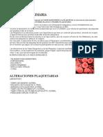 Hemostasia Primaria Ysus Patologias