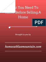 What You Need to Know Before Selling a Home