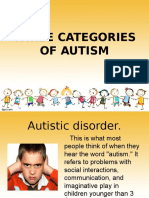 three categories of autism