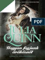 Julia Quinn - 1. Hogyan Fogjunk Örökösnőt