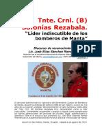Sofonías Rezabala, lider indiscutible de los bomberos de Manta