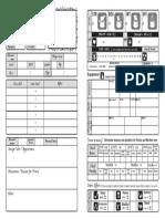 Character Sheet Player RYUUTAMA