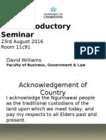 introductory seminar