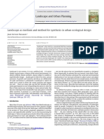 Landscape as Medium and Method for Synthesis in Urban Ecological Design