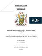 Final Document- g34-35396-2010- Application and Enforcement of Electronic Contracts in Kenya