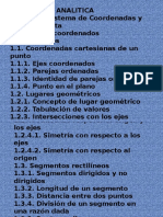 Temario geometria analitica