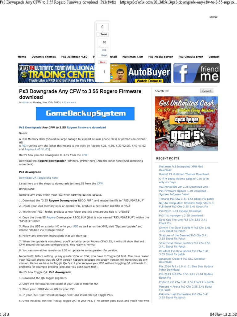 Pkg Ps3 Website