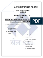 Summer Project at Bhilai steel Plant