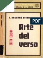 Tomás Navarro Tomás - Arte Del Verso