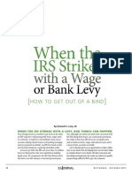 Article When the IRS Strikes With a Levy