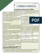 55. l'Hebdo Syndical 19 Août 2016