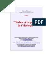 Weber et la quesiton de l'ideologie