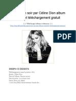 Encore Un Soir Par Céline Dion Album Complet Téléchargement Gratuit