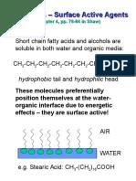 Lecture - Surfactants