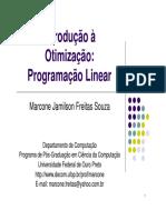 Introdução Otimização e Programação Linear