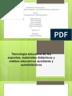 Tecnología Educativa de Los Soportes, Materiales Didácticos