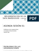 Implementación de Un Data Warehouse – Sesión 01